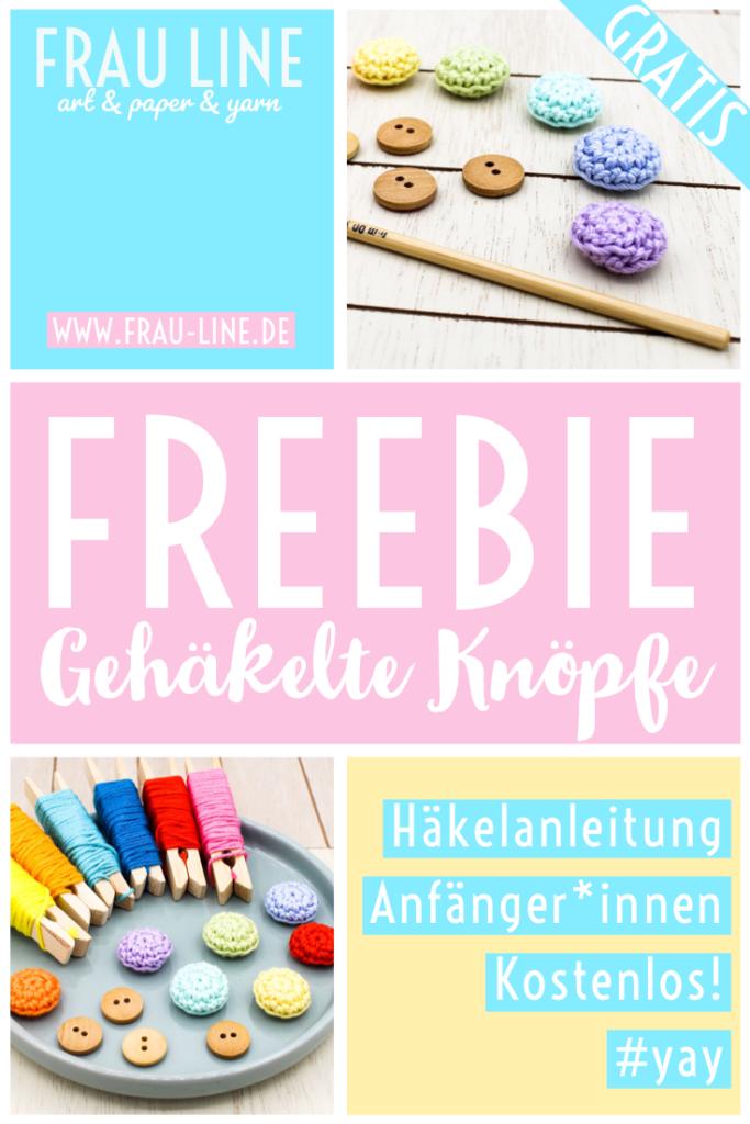 Pin Frau Line Anleitung Knöpfe häkeln kostenlos