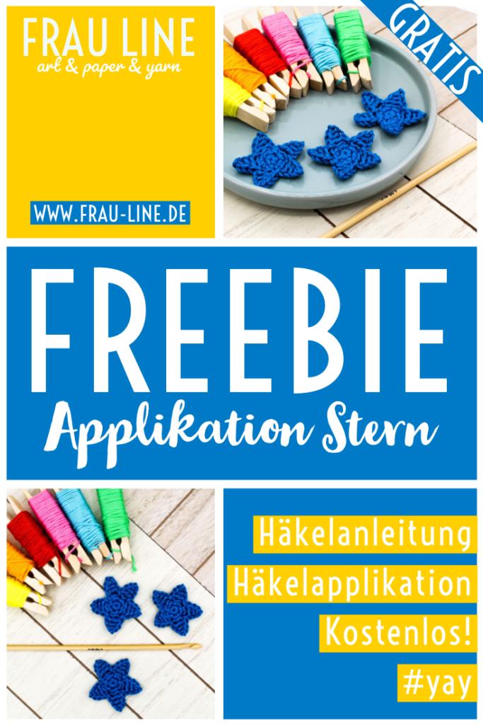 Pin Frau Line Anleitung Sterne häkeln kostenlos