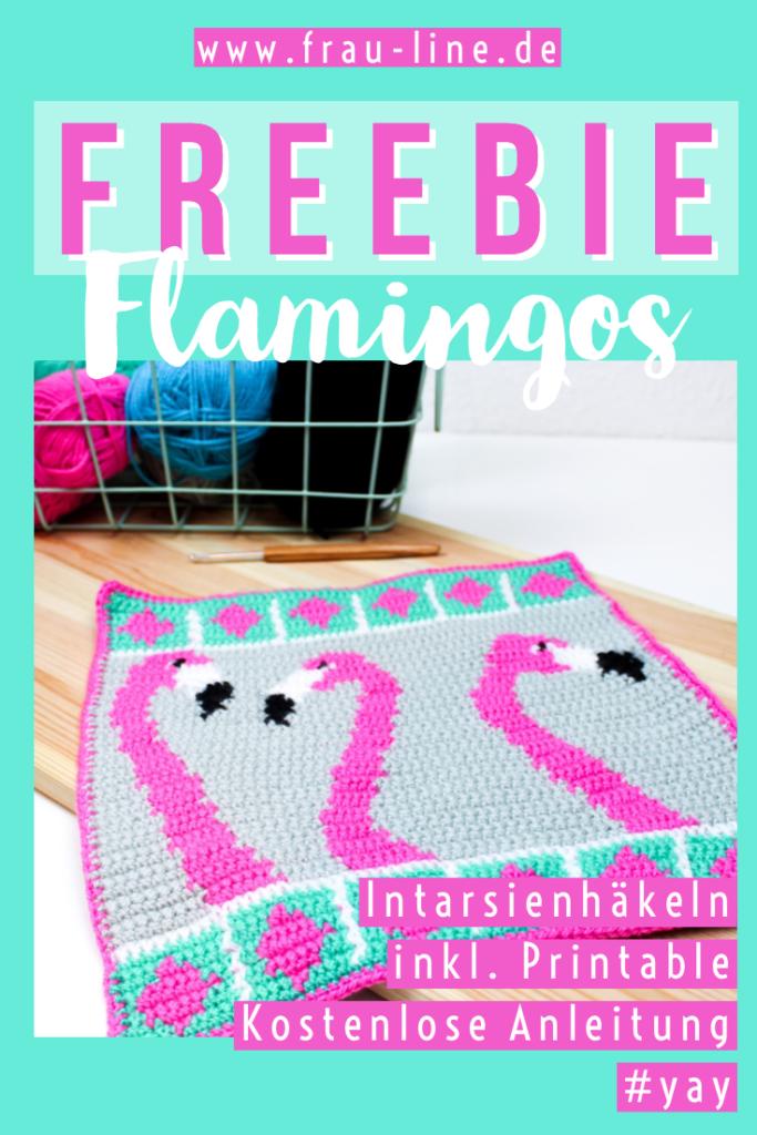 Kostenlose Anleitung gehäkelter Flamingo