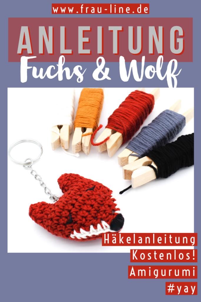 Kostenlose Häkelanleitung Amigurumi Wolf Fuchs