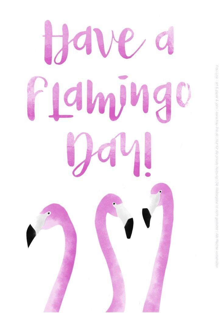 Free Printable Flamingos