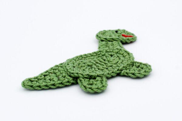 Häkelanleitung Applikation Dinosaurier