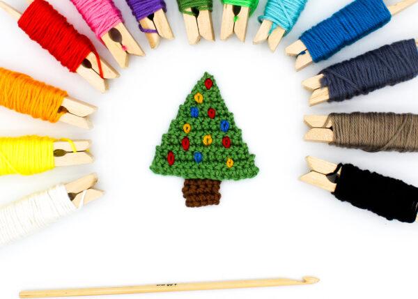 Frau Line Häkelanleitung Weihnachtsbaum