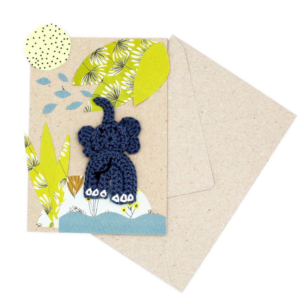 Karten basteln Elefant