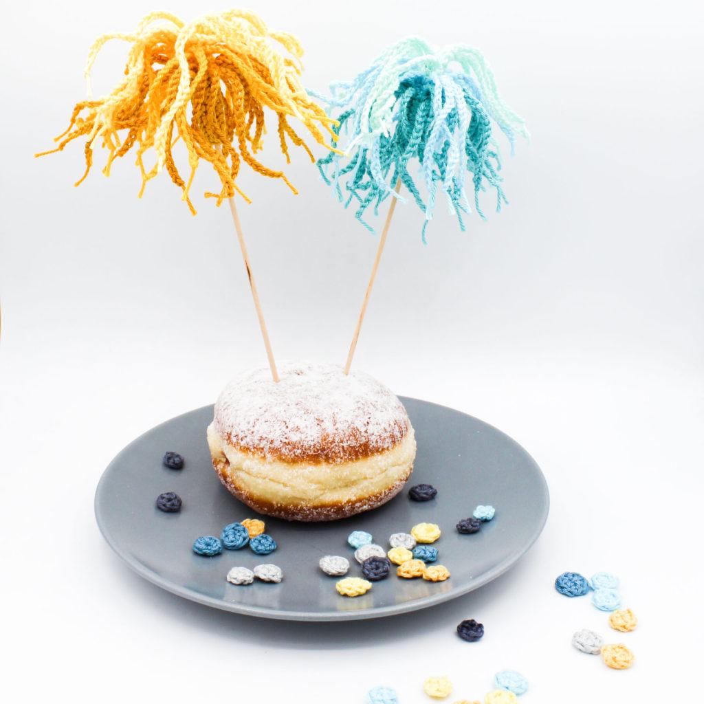Kostenlose Häkelanleitung Kuchen Minimal Waste Dekoration