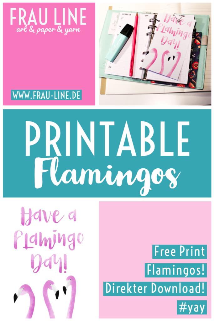 Pin Free Printables Poster Flamingo