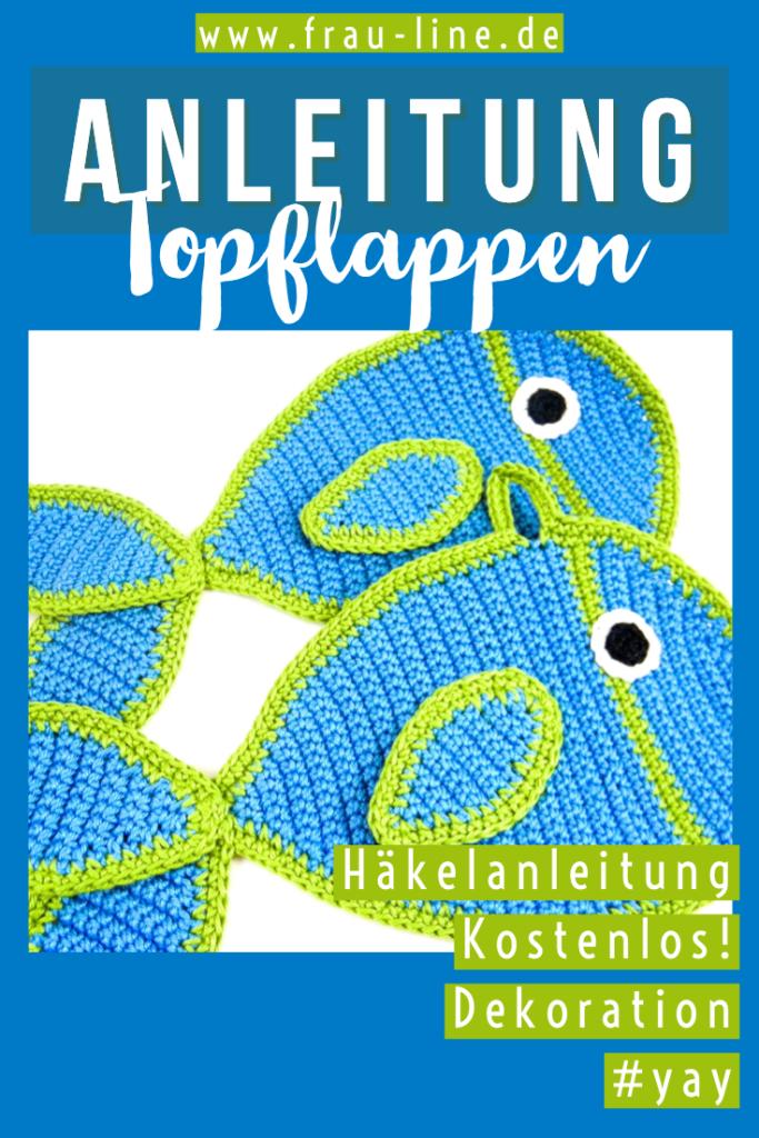 Häkelanleitung Topflappen Fische