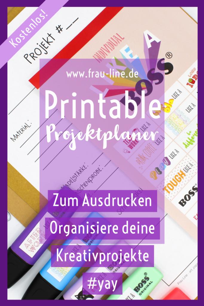 Pin Kostenloses Printable Projektplaner