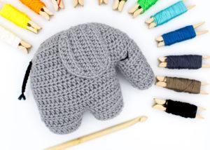 Frau Line Häkelanleitung Amigurumi Elefant Cover