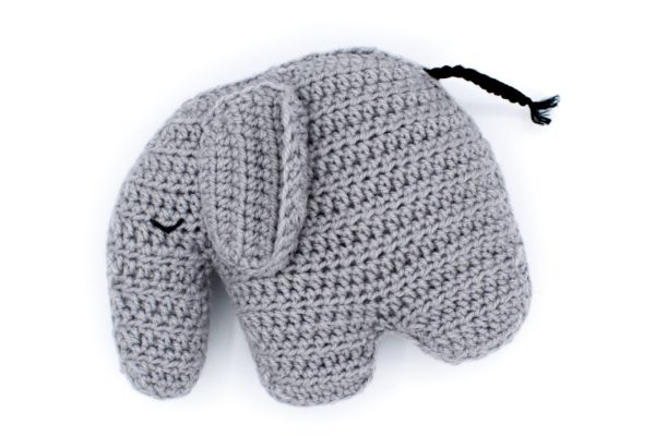 Frau Line Häkelanleitung Tante Elefant Grau