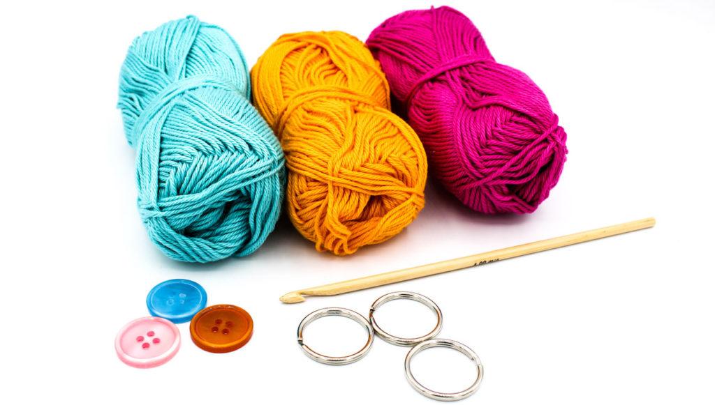 Material Frau Line Kostenlose Anleitung Schlüsseltaschen häkeln Tapestry