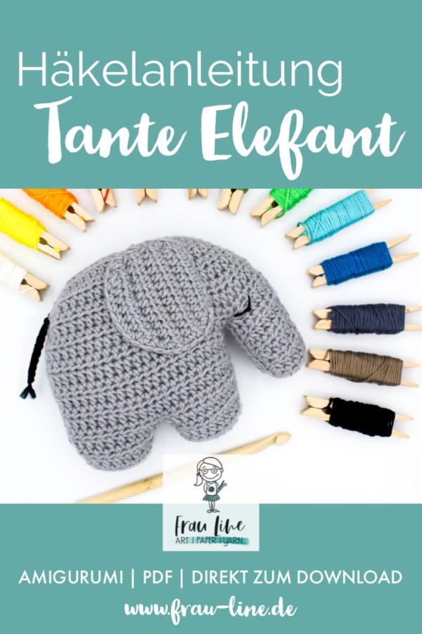 Pin Frau Line Häkelanleitung Amigurumi Elefant