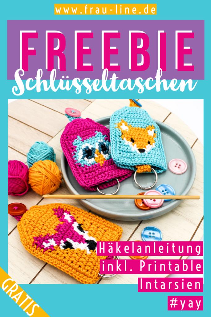 Pin Frau Line Kostenlose Anleitung Schlüsseltaschen häkeln Tapestry
