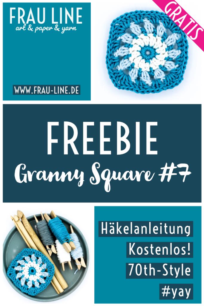 Pin Gratisanleitung Granny Squares Häkeln