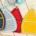 Titel kostenlos Anleitung gehäkelte Wimpelkette Häuser