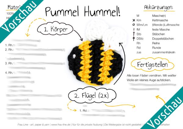 Vorschau Frau Line Häkelanleitung Biene