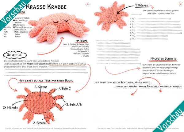 Vorschau Frau Line Häkelanleitung Krabbe