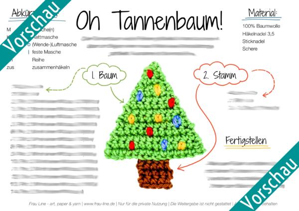 Vorschau Frau Line Häkelanleitung Tannenbaum