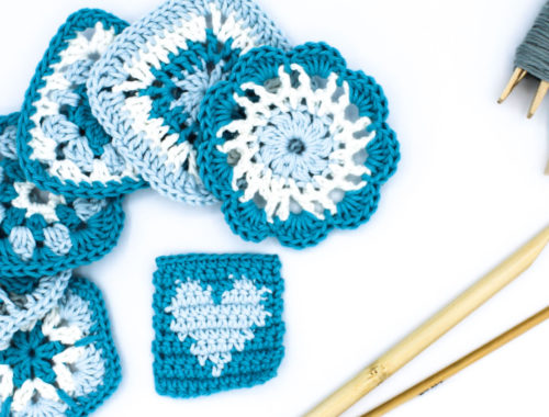 Cover Kostenlose Anleitung gehäkeltes Granny Square Frau Line