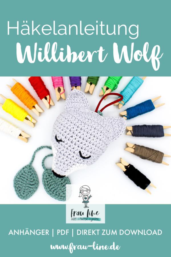 Pin Frau Line Häkelanleitung Amigurumi Willibert Wolf