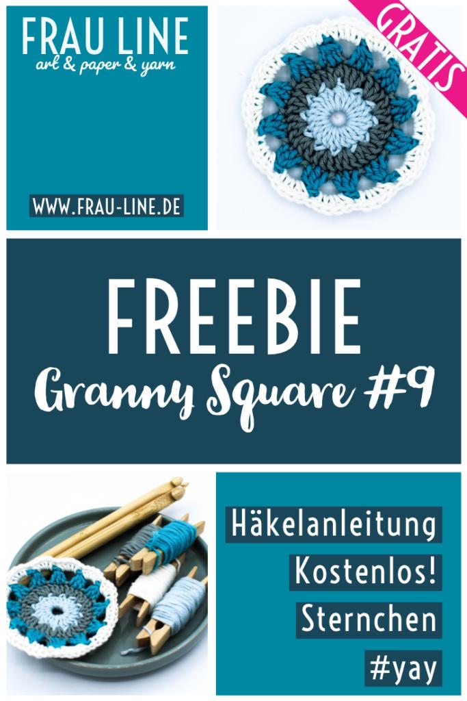 Pin Gratisanleitung Granny Squares häkeln Sternchen