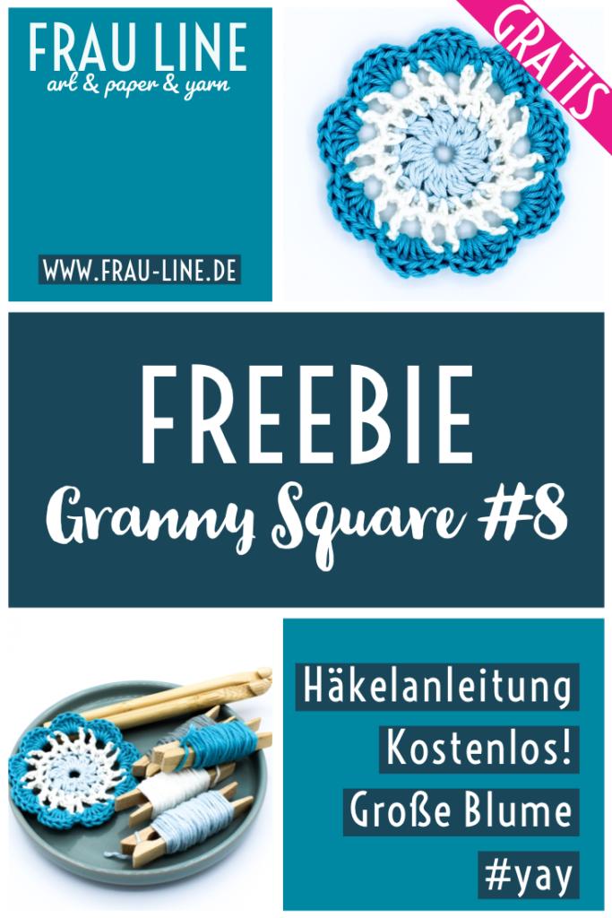 Pin Kostenlose Anleitung gehäkeltes Granny Square Frau Line