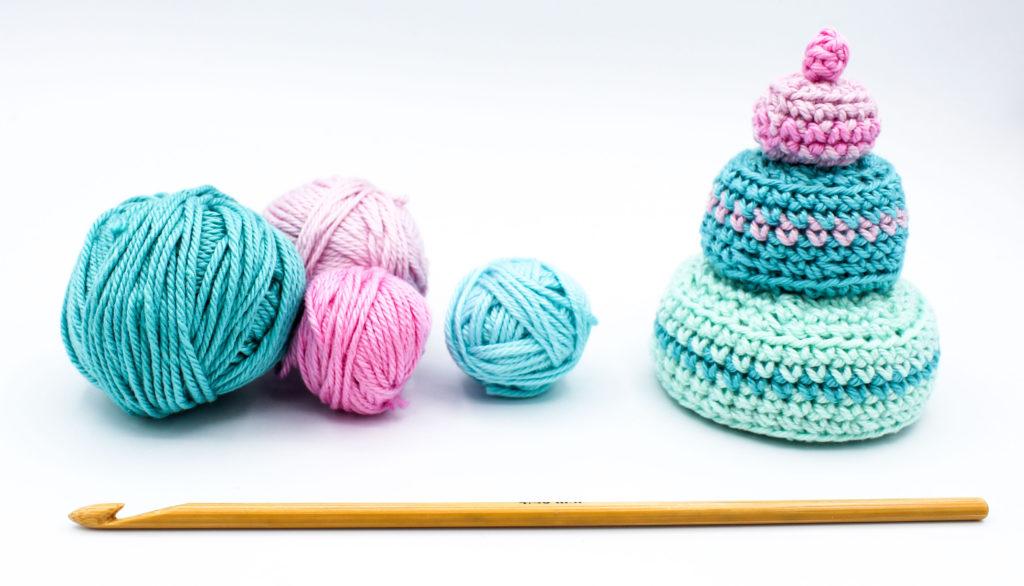 Frau Line Kostenlose Häkelanleitung Nadelkissen Torte Einzelteile