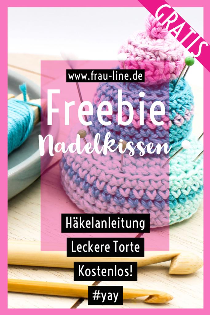 Pin Frau Line Kostenlose Häkelanleitung Nadelkissen Torte