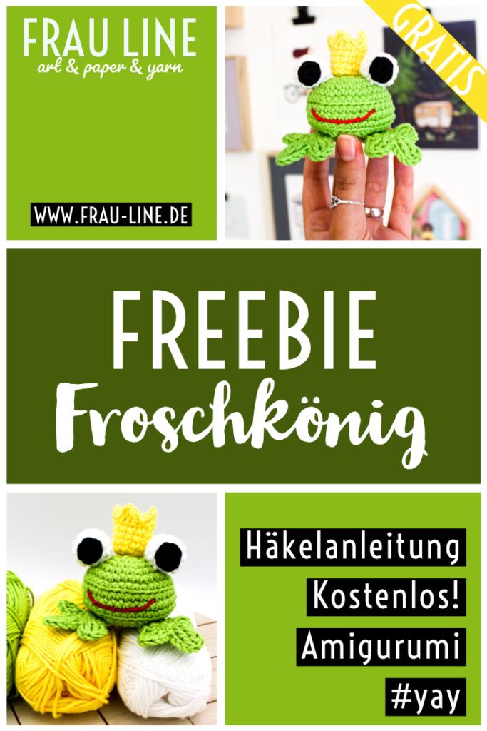 Pin Frau Line kostenlose Häkelanleitung Amigurumi Froschkönig Frosch