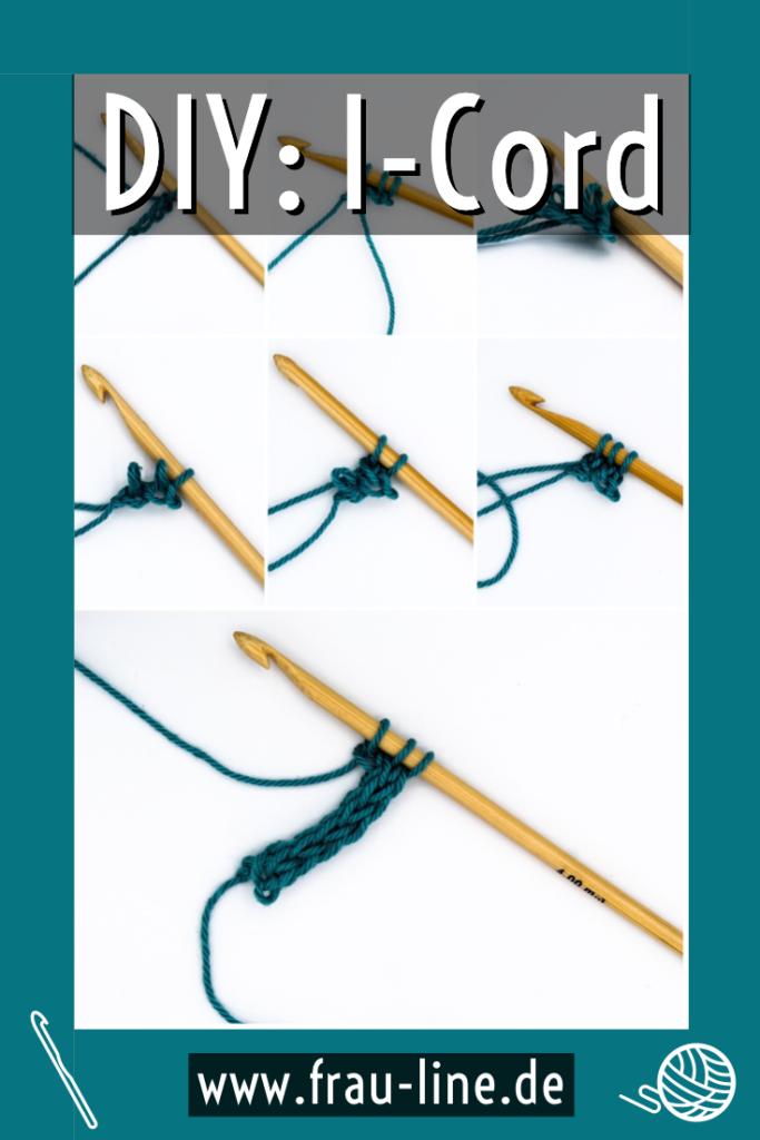 Pin Kostenlose Anleitung I-Cord häkeln lernen Strickschnur