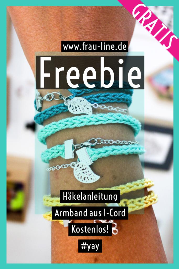 Pin kostenlose Häkelanleitung Armband aus I-Cord häkeln