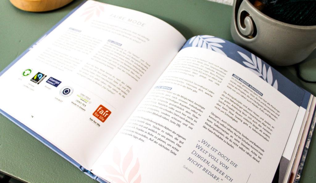 Einfach Nachhaltig Nähen Beschreibung Frau Line EMF Verlag