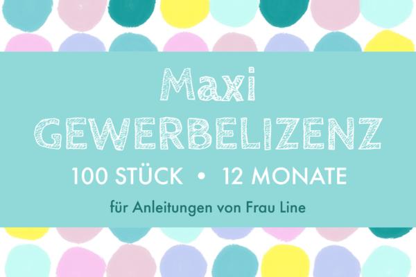 Frau Line Gewerbelizenz Maxi
