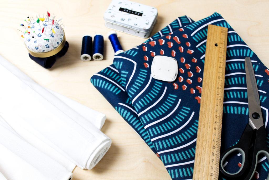 Material Frau Line Nähanleitung Upcycling Faltrollo Ikea Hack