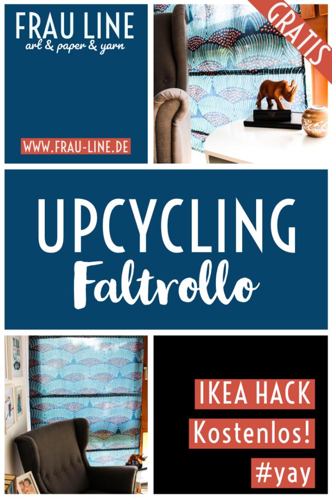 Pin Anleitung Faltrolle nähen Upcycling Ikea Hack