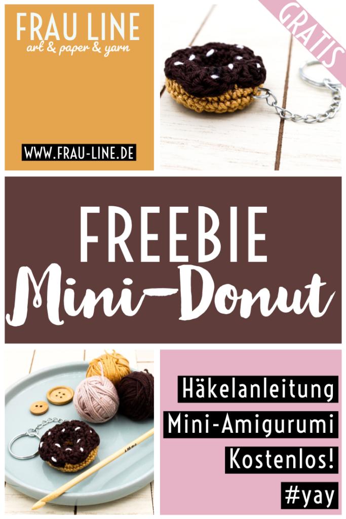 Pin Anleitung Häkeln Amigurumi gehäkelt Mini Donut Schlüsselanhänger