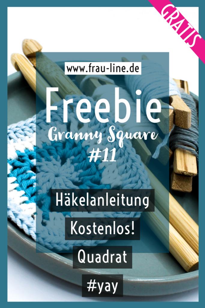 Pin Frau Line Gratisanleitung Granny Square Quadrat