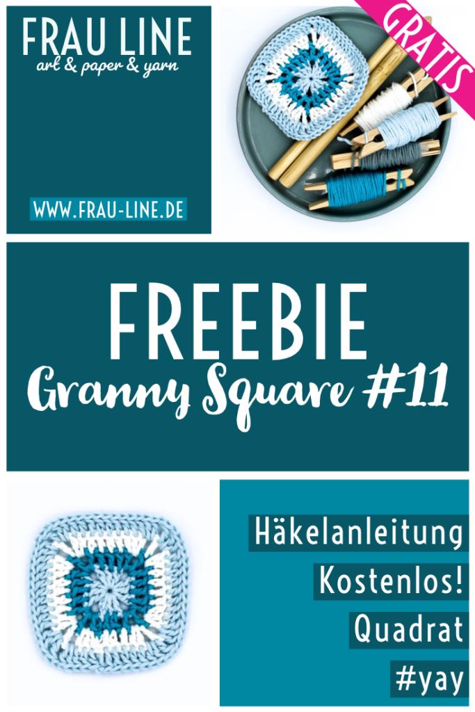 Pin Frau Line Häkelanleitung Granny Square Quadrat