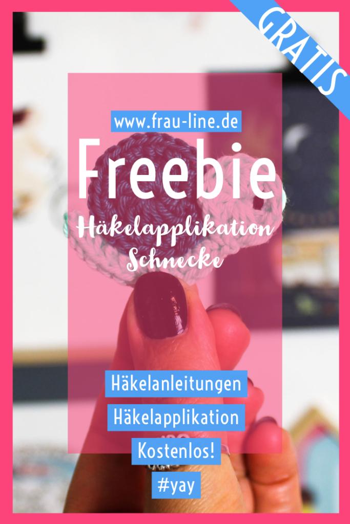 Pin Frau Line Kostenlose Anleitung Häkelapplikation Schnecken