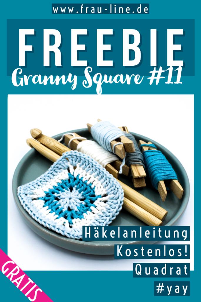 Pin Frau Line Kostenlose Anleitung gehäkeltes Granny Square Quadrat