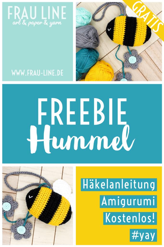 Pin Frau Line freie Anleitung gehäkelte Biene Amigurumi kostenlos