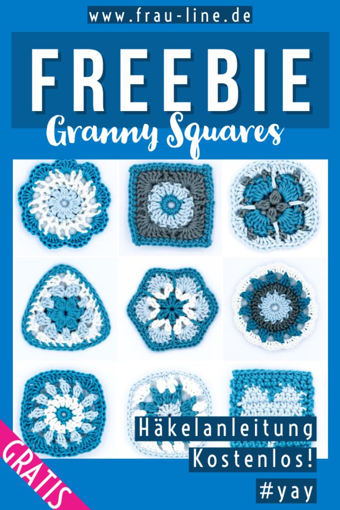 Pin Frau Line kostenlose Häkelanleitung Granny Squares