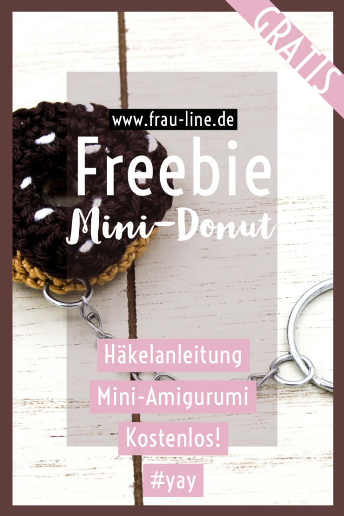 Pin Kostenlose Häkelanleitung Mini Amigurumi Donut Schlüsselanhänger