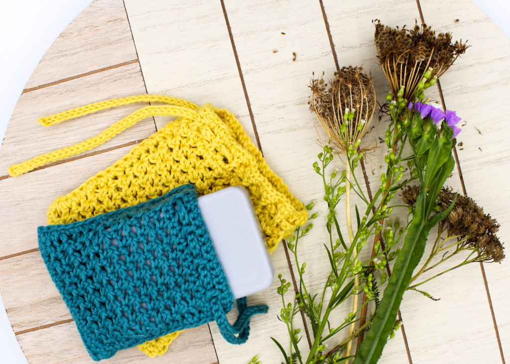 Frau Line Kostenlose Häkelanleitung Seifensäckchen aus Biobaumwolle