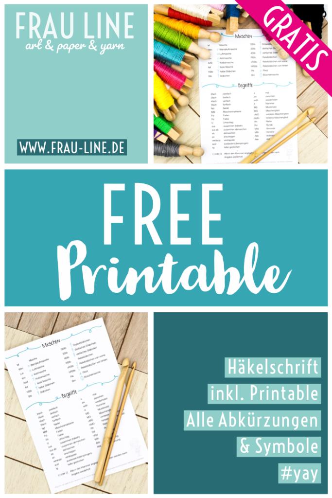Pin Frau Line Gratis Printable Häkelschrift Abkürzungen Symbole