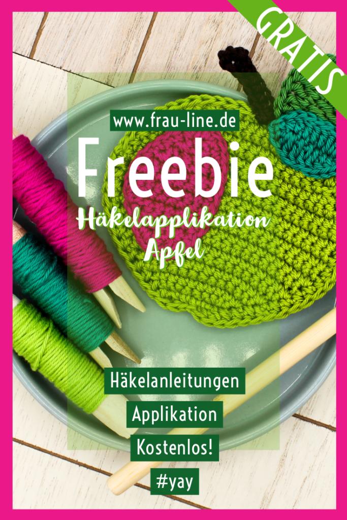 Pin Frau Line Gratisanleitung Applikation Apfel häkeln