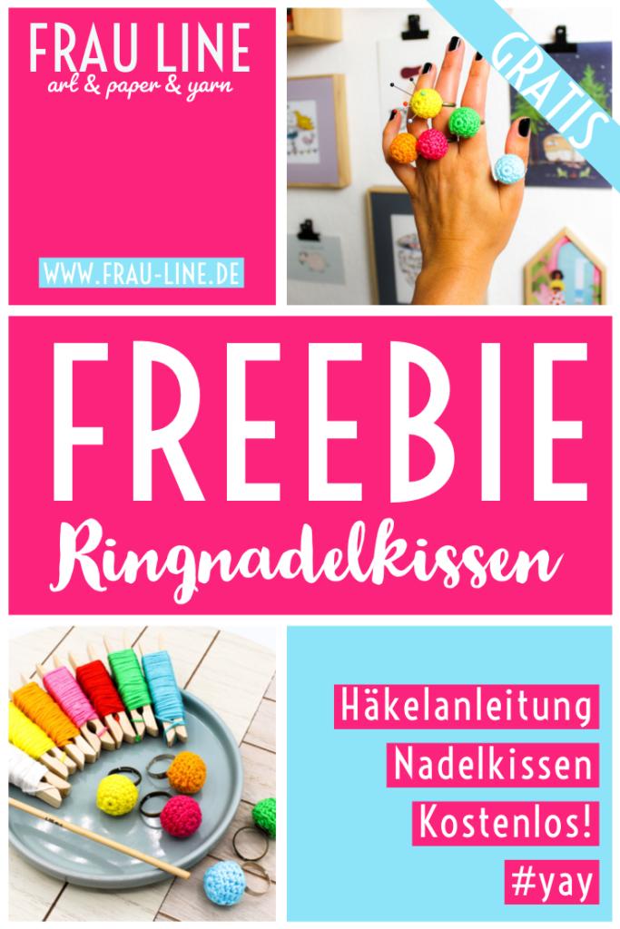 Pin Frau Line Häkelanleitung kostenlos Nadelkissen Ring