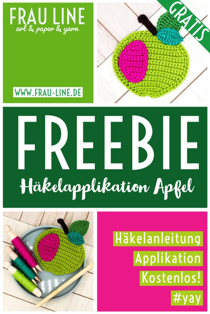 Pin Frau Line Kostenlose Häkelanleitung Häkelapplikationen häkeln Apfel