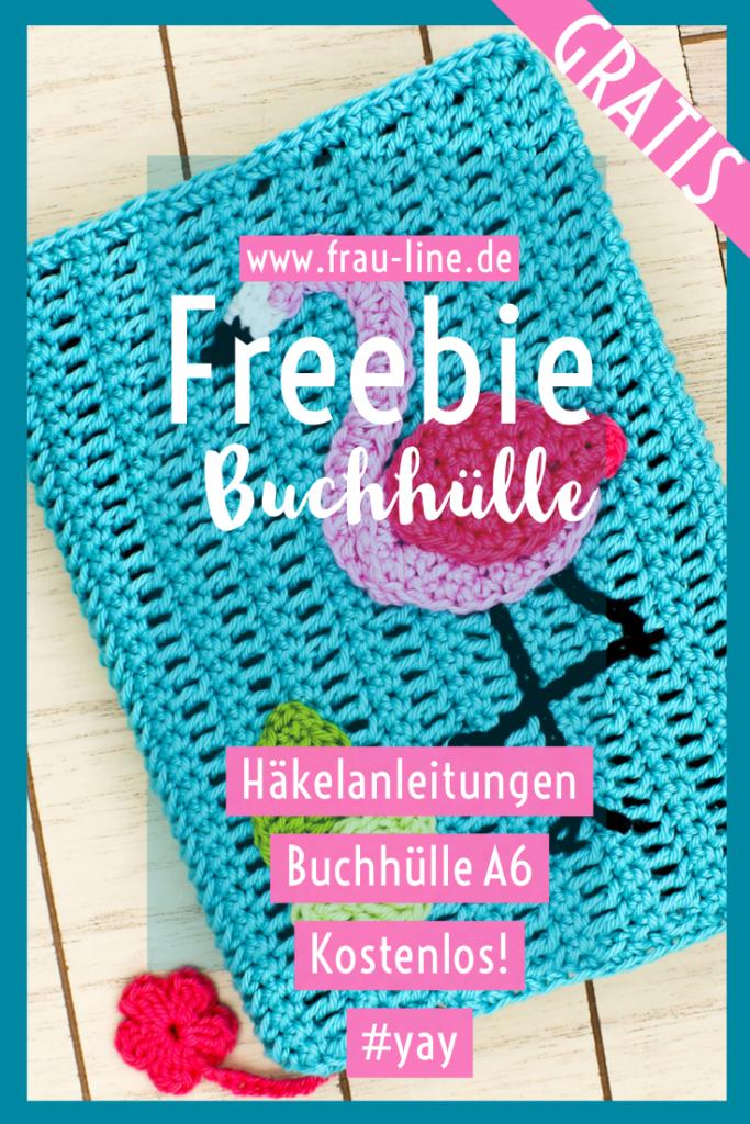 Pin Gratisanleitung Frau Line gehäkelte Buchhülle