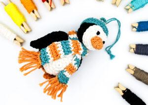 Cover Frau Line Häkelanleitung Weihnachtsbaumkugel Pinguin Amigurumi